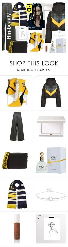 """Riri"" by anestteziya on Polyvore featuring мода, Puma, Off-White, Noir Jewelry, Hush и fashionset"