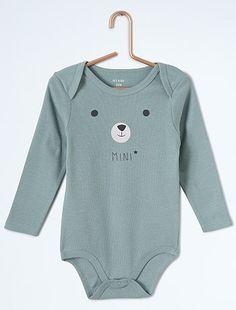 Body en pur coton 'animaux'                                                                             bleu Bébé garçon   - Kiabi
