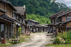 What looks like an old and abandoned Japanese village is actually just a movie set. Many of the latest Japanese Samurai movies where filmed here. There are reconstructions of a farming village, a fishing village and a post town of the Edo period Old Abandoned Buildings, Abandoned Places, Abandoned Mansions, Japan Village, Kubo And The Two Strings, Japanese Buildings, Samurai Champloo, Japanese Architecture, Fishing Villages