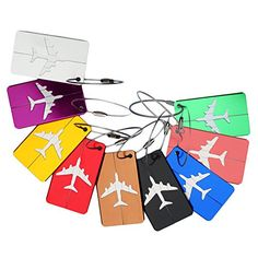 Xiwstar Luggage Tags Bag Tag Travel ID Labels Tag for Baggage Suitcases Bags 6PcsMixed Colors ** You can find out more details at the link of the image.Note:It is affiliate link to Amazon.