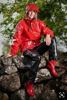 Vinyl Clothing, Rain Suit, Pvc Raincoat, Rain Gear, Macs, Vinyls, Farmers, Rain Boots, Latex