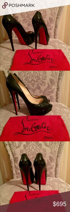 "Christian Louboutin sz 40 Perfect pair of Louboutin sz 40 that fits more like 39-39.5 shoes. They are 5"" heel, in great condition, with fair use. It's sad I can't wear them because I'm a smaller size and willing to sell to Someone who will get to use them. They are really comfortable! ❤️ I purchased them from another posher who misrepresented sizing. Christian Louboutin Shoes Platforms"