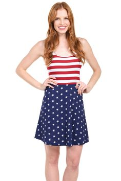 Summer Women American Flag Stars And Stripes Sleeveless Casual Dress Tank  Dress  6094638f0