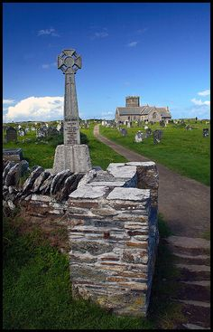 Tintagel Church. A pleasent walk along the cliffs from the castle.