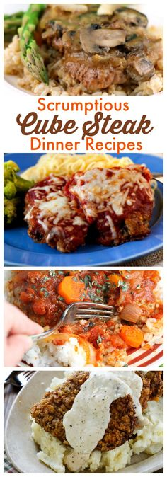 Scrumptious Cube Steak Recipes for Dinner You'll want to dig into these hearty Cube Steak Dinner Recipes!You'll want to dig into these hearty Cube Steak Dinner Recipes! Cubed Steak Recipes Easy, Minute Steak Recipes, Steak Dinner Recipes, Beef Steak Recipes, Meat Recipes, Cooking Recipes, Steak Dinners, Recipies, Best Cubed Steak Recipe