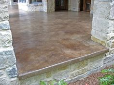 Stained concrete patio take a look at this patio concrete stain patio concrete stain ideas home Acid Stained Concrete Patio, Concrete Floors, Plywood Floors, Colored Concrete Patio, Concrete Stain Colors, Concrete Front Porch, Concrete Staining, Concrete Lamp, Concrete Countertops