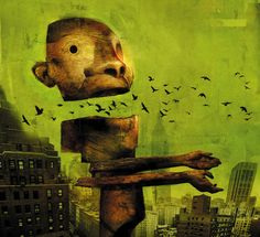 Dave McKean has illustrated several award winning comics including Arkham Asylum (with author/playwright Grant Morrison), Signal to Noise and Mr. Punch (with author Neil Gaiman). Description from allenspiegelfinearts.com. I searched for this on bing.com/images