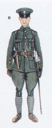 Officers' field uniform of the Irish Volunteers.