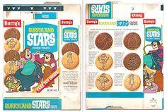 Vintage 1968 Burrys Burryland STARS Cookies Box