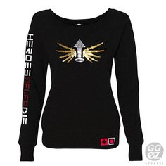 mercy overwatch mercy sweatshirt women slouchy off