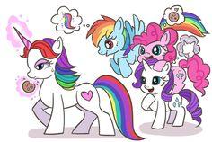 #971200 - artist:kongyi, cookie, crossover, inside out, pinkie pie, ponified, rainbow dash, rainbow unicorn, rarity, safe, sweatdrop - Derpibooru - My Little Pony: Friendship is Magic Imageboard