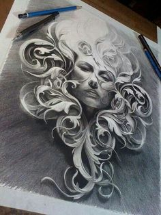 All of this done with a pencil