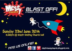 Dapto Messy Church blast off space theme flyer Ninja Turtle Cupcakes, Holiday Club, Vacation Bible School, Space Theme, Family Events, Sunday School, Activities, Superhero