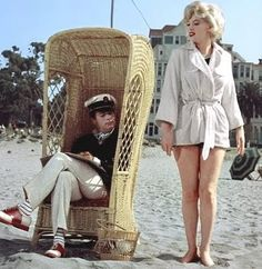Some Like it Hot,  a great movie set in Miami.  Marilyn was wonderful in this one.