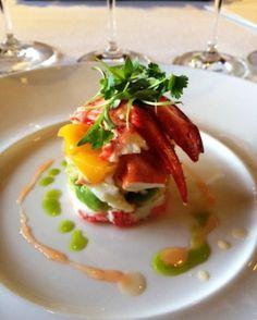 Maine lobster & mango salad at BOND Estate. - Oakville CA