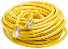 Yellow Jacket 2806 10/3 100-Feet 15-Amp Heavy-Duty SJTW Contractor Extension Cord with Lighted End, Extension Cords - Amazon Canada