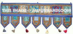 """38x14"""" Decorative Vintage Door Hanging Window Decor Toran-Jaipur Handloom"""