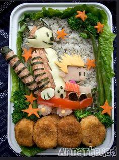 Calvin and Hobbes food art