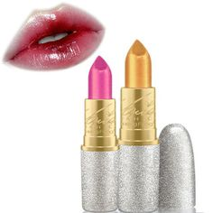 HengFang Mermaid Color Shining Lip Stick Shimmer Gold Sexy Lipstick Eyeshadow Makeup Online - NewChic Mobile