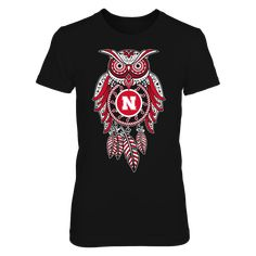 Sugar Skull Owl - Nebraska Cornhuskers T-Shirt, Nebraska Cornhuskers Official Apparel - this licensed gear is the perfect clothing for fans. Makes a fun gift!  The Nebraska Cornhuskers Collection, OFFICIAL MERCHANDISE  Available Products:          District Women's Premium T-Shirt - $29.95 District Men's Premium T-Shirt - $27.95 Next Level Women's Premium Racerback Tank - $29.95 Gildan Unisex Pullover Hoodie - $44.95 Gildan Long-Sleeve T-Shirt - $33.95 Gildan Youth T-Shirt - $23.95…