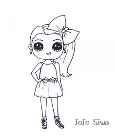 Jojo Siwa Coloring Pages Preschool