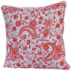 100% Cotton Pure Paisley Scatter Cushion