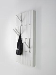 Perchero de haya de pared PIANO WHITE - PER/USE