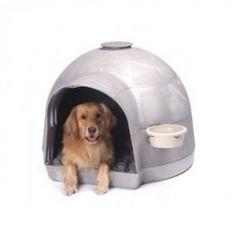 La caseta para perros Dogloo ® KD Pro es muy amplia y estable y protege su mascota de los elementos al aire libre en un diseño de 5 piezas para montar muy duraderas. El sistema de ventilación superior ajustable promueve una buena circulación del aire, mientras que la entrada extendida desvía la lluvia desde la puerta, manteniendo a su mascota en seco. Incluye un gancho de alambre y un crock bowl para alimentos o agua. #casetasperros #casetasparaperros #perros #dogs #hunde #mascotas #pets