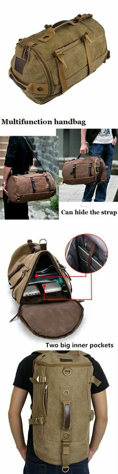 High-Grade Men's Luggage Bag, Shoulder Bag, Canvas Travel Backpack, Handbag L3006