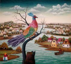 Peacock on a tree, Ivan Generalic