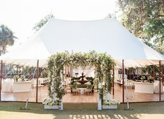 Every tent should have a proper entrance. Charleston-based Kristin Newman created a statement arch for this tented affair at Montage Palmetto Bluff.