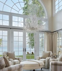 Oh, yeah... someone just give me this water-front home with this gorgeous view from this living room.  *Bet all the other rooms have a great view also.