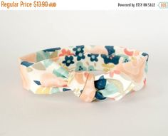 15% OFF SALE Baby Headband Baby Bows Top Knot Headband by Chimne