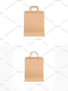 Paper Bag Eco Sale. Vector. Objects. $5.00