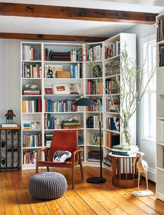 Corner book case. Jenn Clapp newburyport collectors home