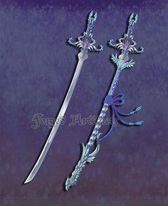 Custom Celestial Katana by Forged-Artifacts on deviantART