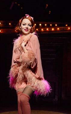 Emma Stone as Sally in Cabaret... I just want everything about this outfit. So much in like.