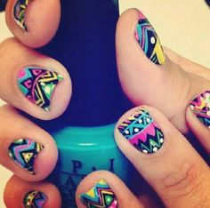 Nail Art Designs are one of the most famous type of artwork among the ladies. Nail art designs are the decoration of nails with beautiful, unique drawings. Love Nails, How To Do Nails, Fun Nails, Pretty Nails, Crazy Nails, Style Nails, Sexy Nails, Dream Nails, Nail Art Cute