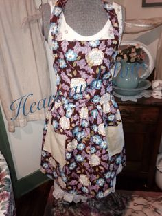 A personal favorite from my Etsy shop https://www.etsy.com/listing/227342398/womens-floral-apron