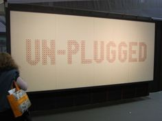 peg board and yarn to create a giant sign. Very cool in a boys room or something....