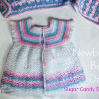 Kroşe Yenidoğan Bebek Giyimi Şeker Şekeri Şeritleri - serbest desen