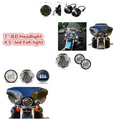 "89.88$  Watch now - http://ali7x1.worldwells.pw/go.php?t=32780704997 - ""DRL 7"""" Daymaker Projector LED Headlamp 4.5inch Auxiliary led fog Spot Light For Motorcycle Harley Touring Softail Trike FLHTCUSE"" 89.88$"