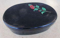 Vintage Black Plastic Container