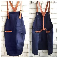 10 oz navy blue canvas apron with leather strap.#madeinsingapore#supportlocal#leather#copperrivet#leathercraft#singapore#leathergoods#apron#baristasg#barber#cook#chef#apronswag#hipaprons