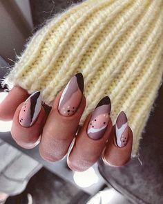 """Маникюр Спб Обучение on Instagram: """"👍🏼 or 👎🏼? 👇🏼 Уфь,уфь,вот это коготочки сделала сегодня наша Полина😻 Как Вам дизайн?"""" Cute Acrylic Nails, Acrylic Nail Designs, Cute Nails, Minimalist Nails, Beautiful Nail Designs, Cute Nail Designs, Stylish Nails, Trendy Nails, Broken Nails"""