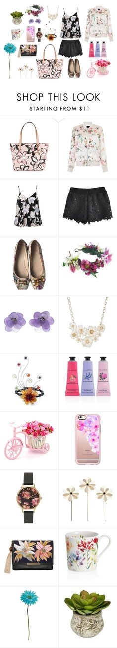 """""""Floral Bomber"""" by flowerdreams on Polyvore featuring Kate Spade, New Look, Ally Fashion, Gucci, Rock 'N Rose, Chanel, Anne Klein, NOVICA, Crabtree & Evelyn and Casetify"""