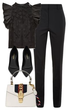 """""""Untitled #3659"""" by theaverageauburn on Polyvore featuring Victoria Beckham, Yves Saint Laurent and Gucci"""