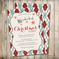 Christmas Party Invitation, Holiday Party Invitation, Christmas Invitation, Christmas Invite, Holiday Invitation, Printable by ThePaperTrailCo on Etsy (null)