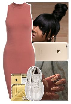 """so bad caught her walking down the street...."" by daeethakidd ❤ liked on Polyvore featuring NLY Trend, Chanel and NIKE"