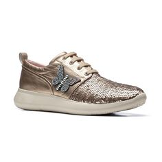 GUESS Platform sneaker con finitura glitter Beige Dettaglio
